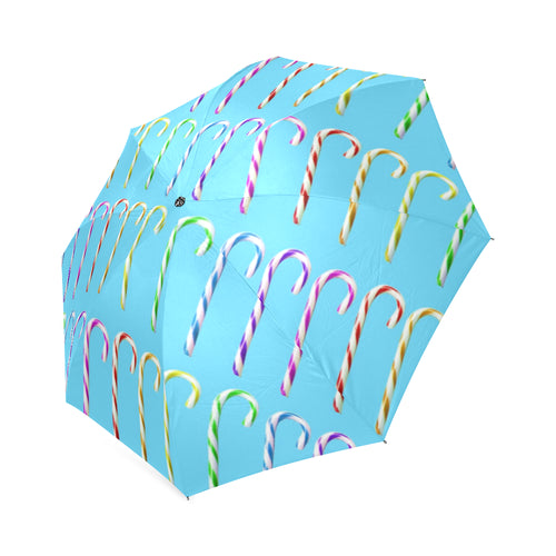 candy canes Foldable Umbrella - Farrell Art