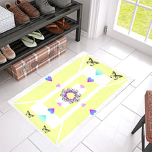 "buterfly love Azalea Doormat 30"" x 18"""