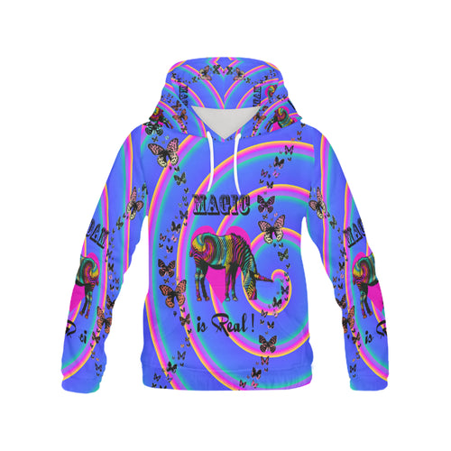 Magic is Real! Women's All Over Print Hoodie (Model H13) - Farrell Art