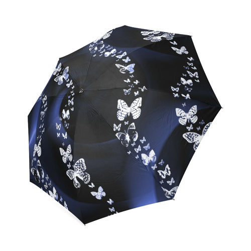 Blue Butterflies Foldable Umbrella - Farrell Art