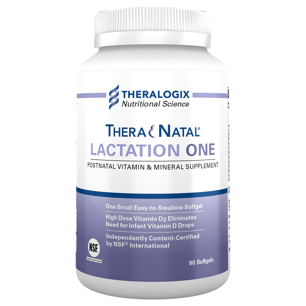 One easy-to-swallow softgel of TheraNatal Lactation One dailyprovides 6,400 IU of vitamin D3, eliminating the need for infant vitamin D drops.