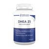 DHEA and fertility, research illustrates taking the supplement DHEA 25 may optimize ovarian reserve and egg quality in women attempting to conceive. DHEA 25 is a NSF tested supplement with 25 mg of DHEA (dehydroepiandrosterone) per capsule.