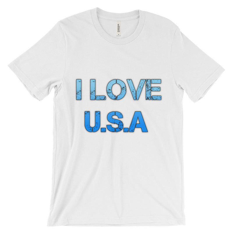 I Love USA T-Shirt - Unisex short sleeve t-shirt
