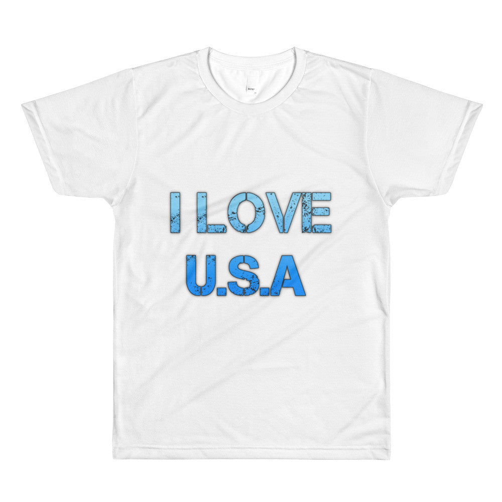 I Love USA - Sublimation men's crewneck t-shirt