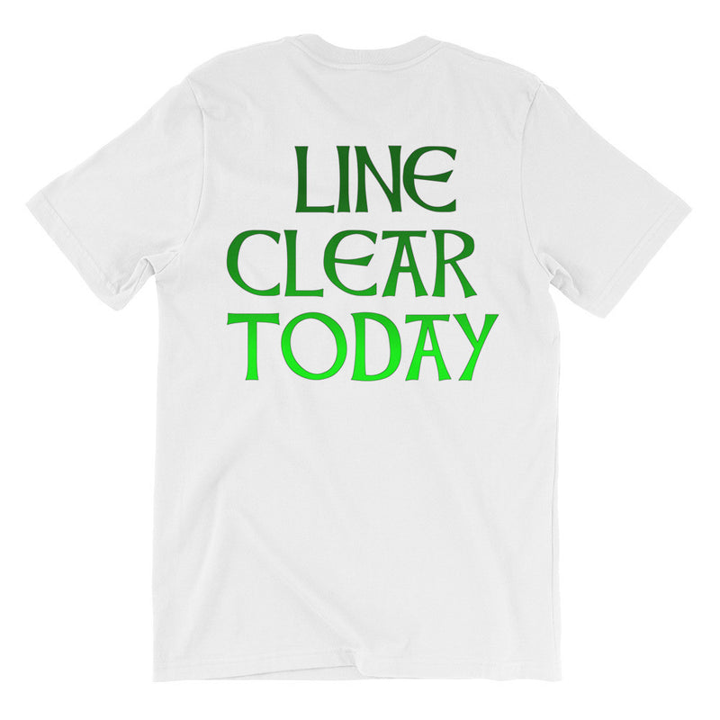 Line Clear Unisex short sleeve t-shirt
