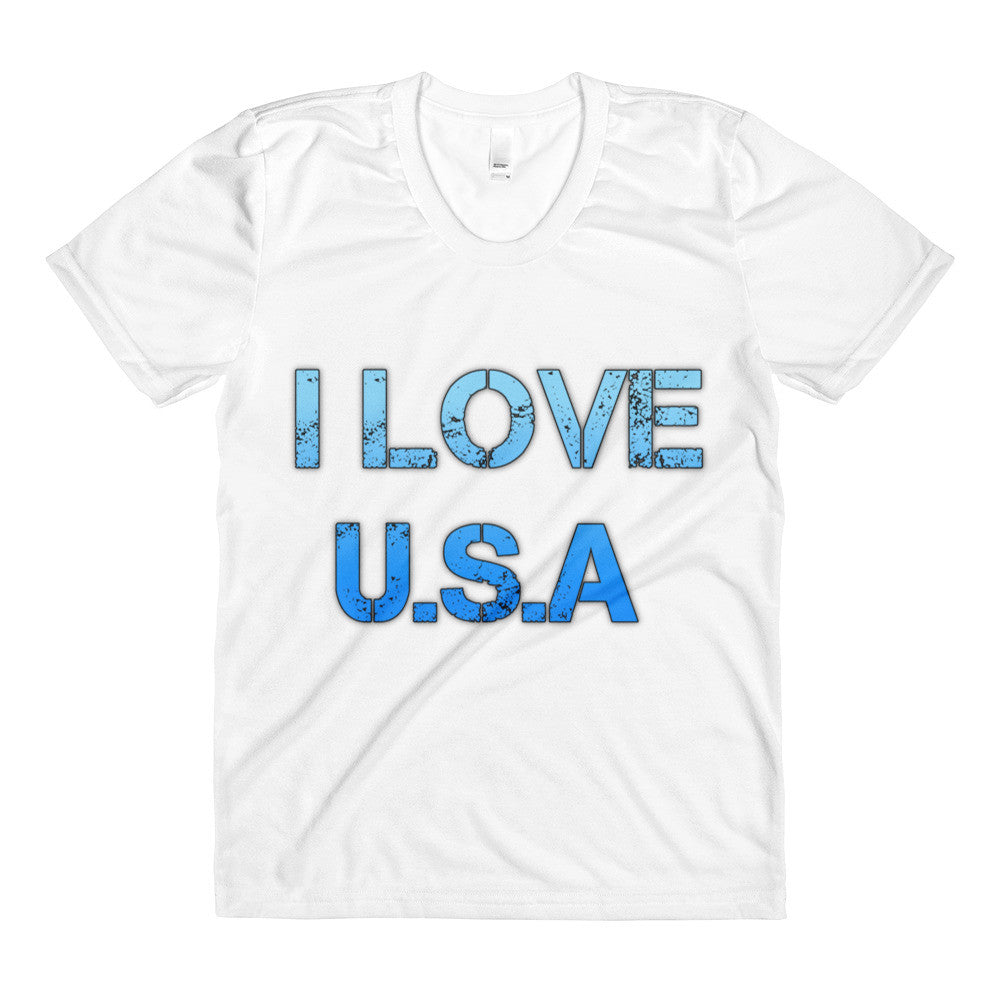 I Love USA - Sublimation women's crew neck t-shirt