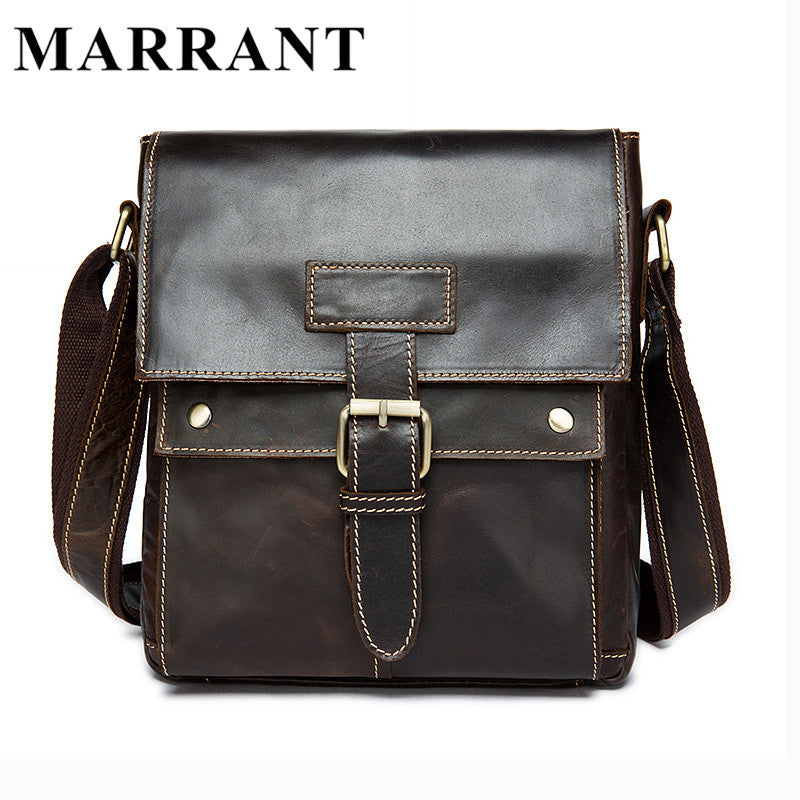 Man - Genuine Leather Bags Small Messenger Bag Man Fashion Crossbody Shoulder Bag Men's Travel