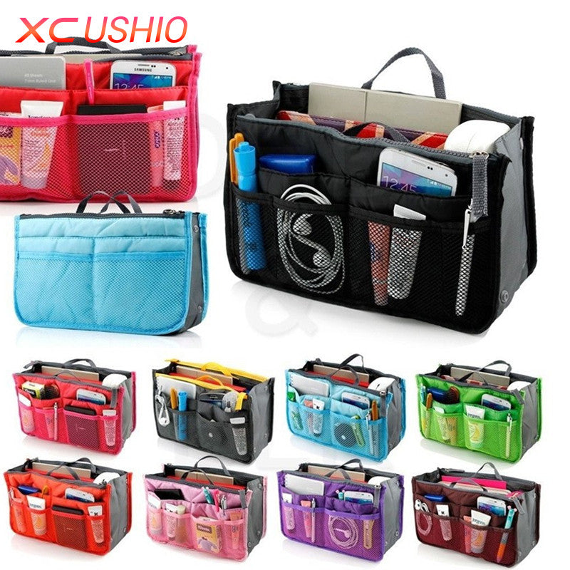 Multifunctional Small Handbag Cosmetic Bags Toiletry Bag Cosmetic Organizer Storage Bag Pouch Pocket