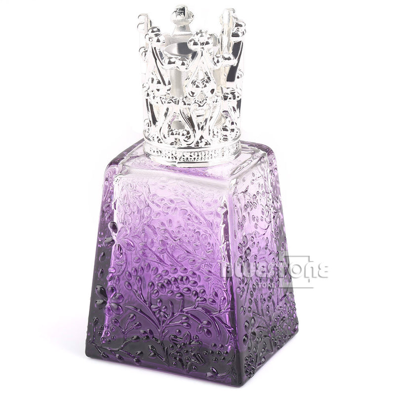 100ML Crystal Purple Perfume Bottle Oil Lamp Silver Fitting Travel Gifts