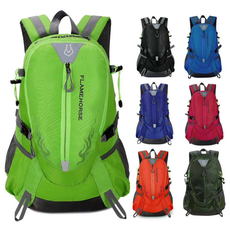 Waterproof Nylon Men Women Backpack Outdoor Sports Bag Unisex Travel Bag Mountain Camping Climbing Hiking