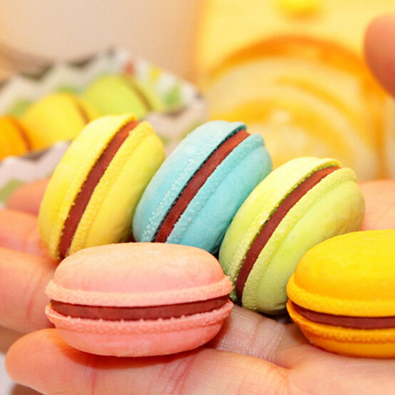 1 Pcs/Lot Novelty Macaron Rubber Eraser Creative Kawaii Stationery School Supplies Papelaria Gift For Kids