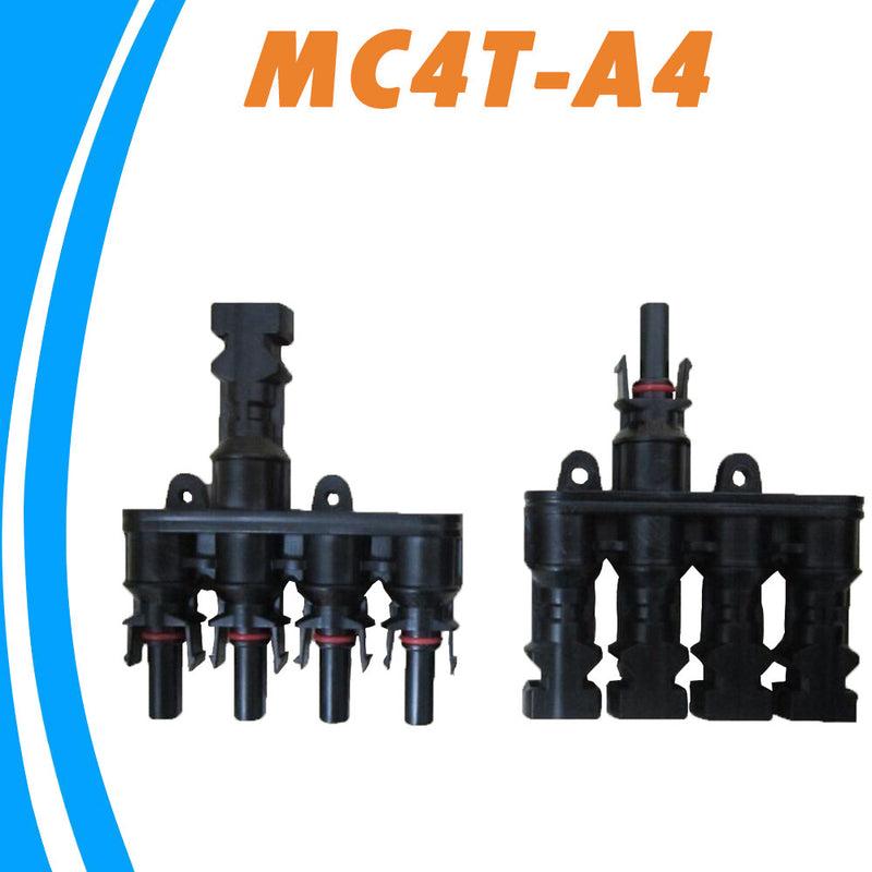 M/FM Solar Panel MC4 4 to 1 T Branch 30A Solar Panel Connector Cable Coupler Combiner  MC4 Panel