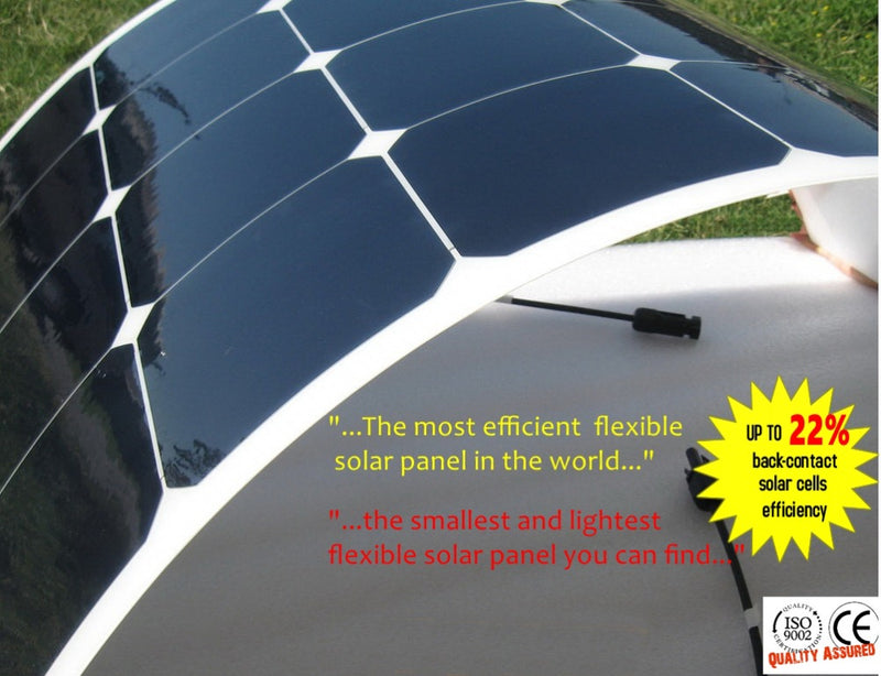 100 Watt flexible solar panel and portable solar panels 100w  with high efficiency mono solar cell for 12V battery charger