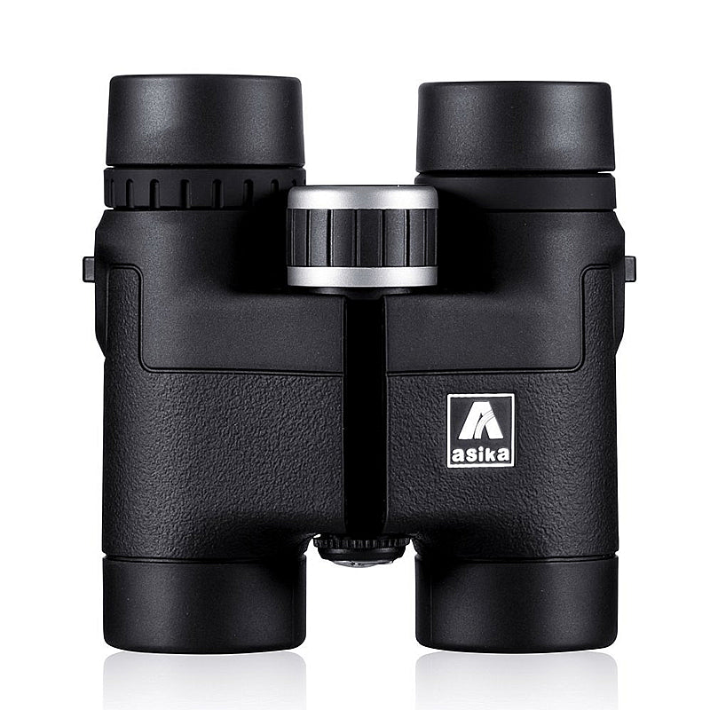 Asika 8x32 Compact Binoculars for Bird Watching HD Military Telescope for Hunting and Travel with strap High Clear Vision Black