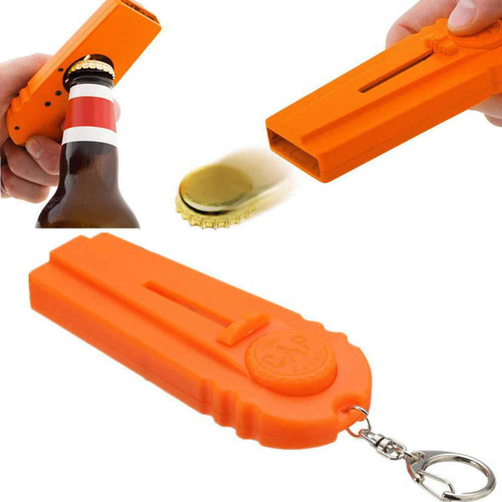 Bottle Cap opener that can shoot cap out