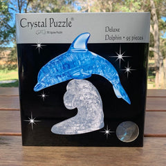Crystal Puzzle Blue Dolphin