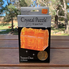 Crystal Puzzle Treasure Chest Golden