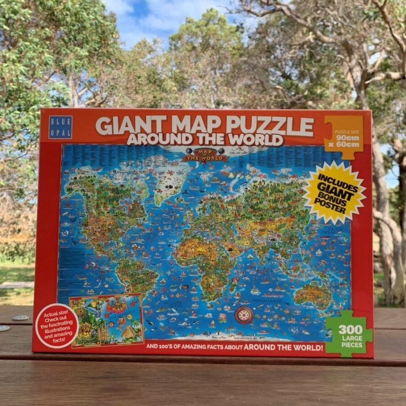 Giant Map Puzzle Around the World