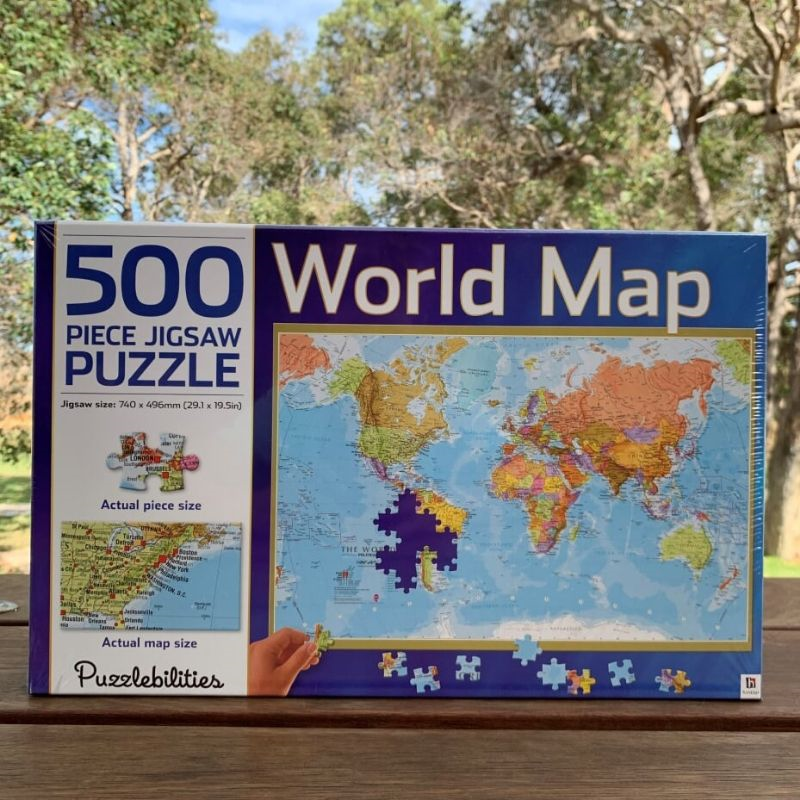World Map Puzzle 500