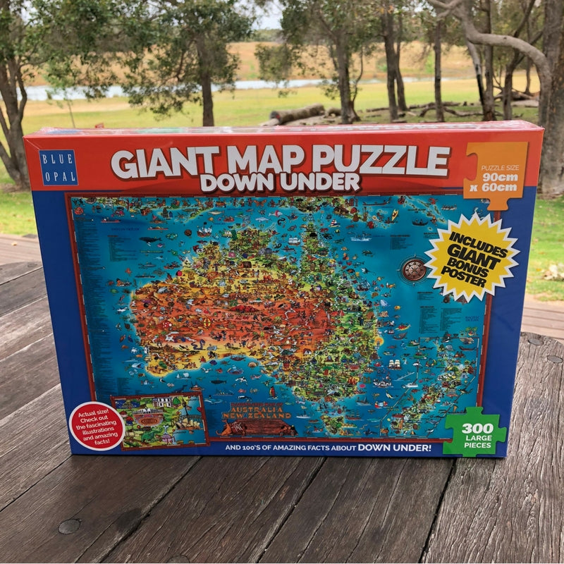 Giant Map Puzzle Down Under