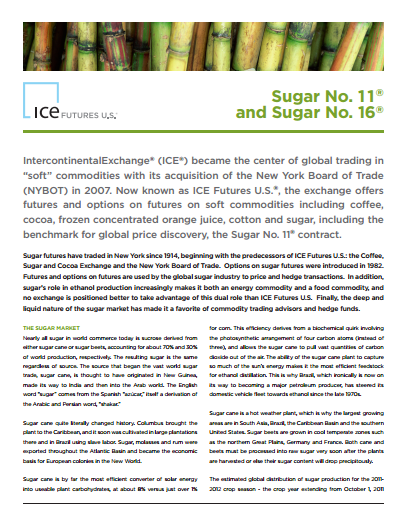 Clandestine Coffee Co. Sugar Market Fundamentals - The ICE