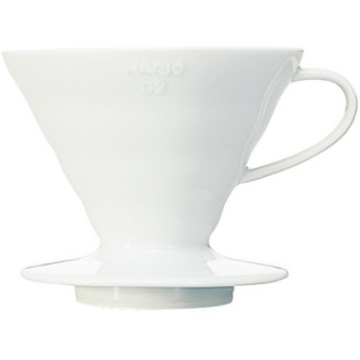 V60 02 White Ceramic Coffee Dripper by Hario - Clandestine Coffee Co.