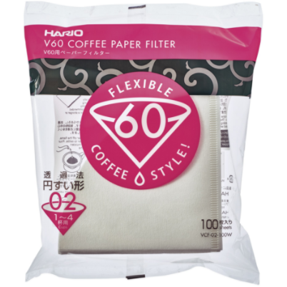 White Paper Filters (100ct) by Hario - Clandestine Coffee Co.