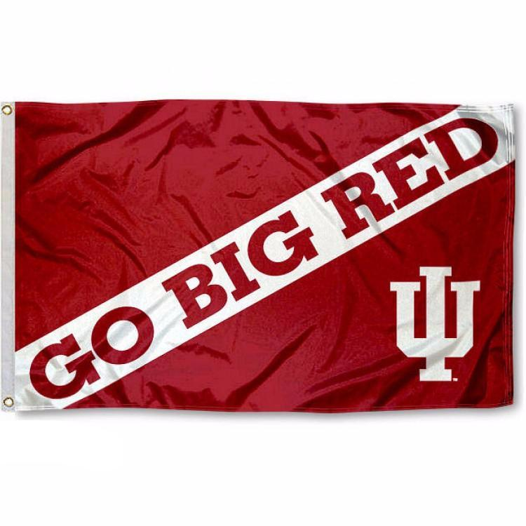 University of Indiana Go Big Red Flag
