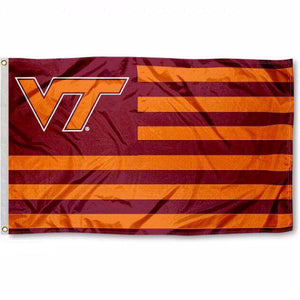 Virginia Tech Stripes Flag