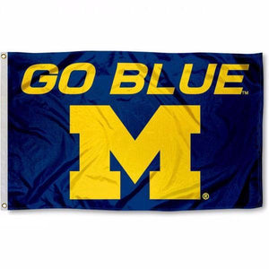 University of Michigan GO BLUE Flag