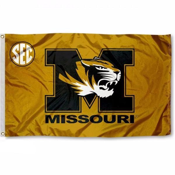 University of Missouri Mizzou Tigers SEC Flag