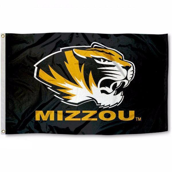 University of Missouri Mizzou Tigers Black Flag