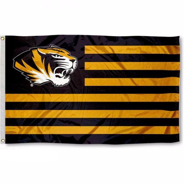 University of Missouri Mizzou Tigers Stripes Flag