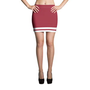 Red and White Mini Skirt