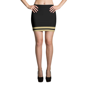 Black and Gold Mini Skirt