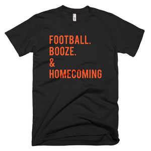 UF Football. Booze. & Homecoming T-Shirt
