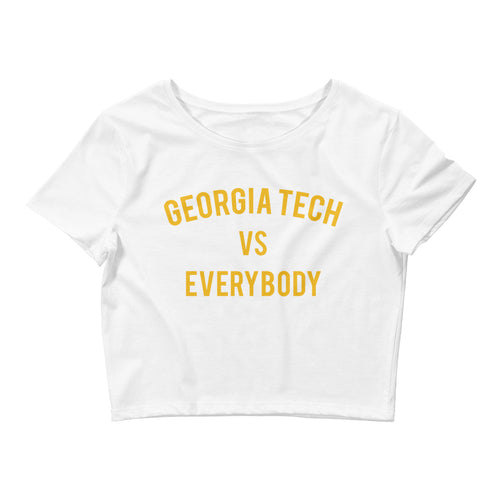 Georgia Tech vs Everybody Crop Tee