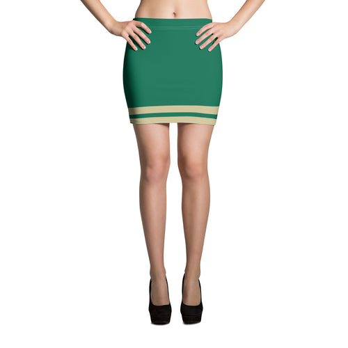 Green and Gold Mini Skirt