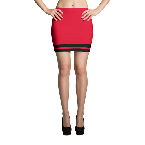 Red and Black Mini Skirt