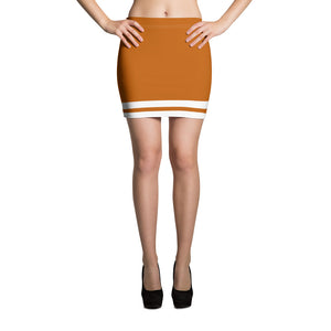 Orange and White Mini Skirt