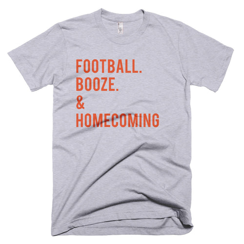 VT Football. Booze. & Homecoming T-Shirt