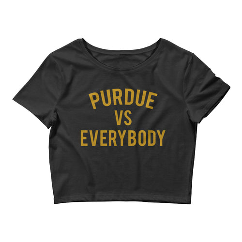 Purdue vs Everybody Crop Tee