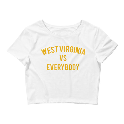 West Virginia vs Everybody Crop Tee