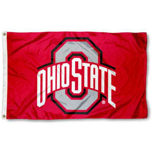 Ohio State University Buckeyes (Red) Flag