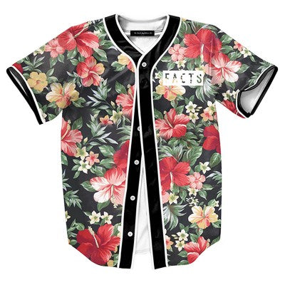 Facts Floral Baseball Jersey