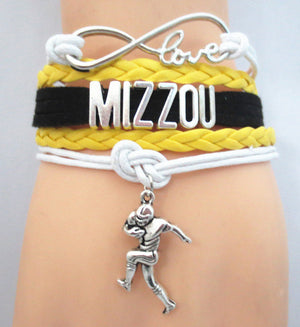 Mizzou Football Player Charm Bracelet