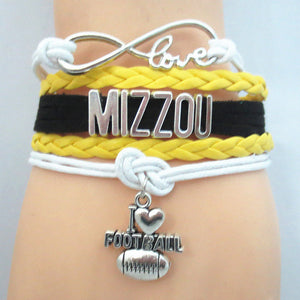 Mizzou Football I Love Football Bracelet