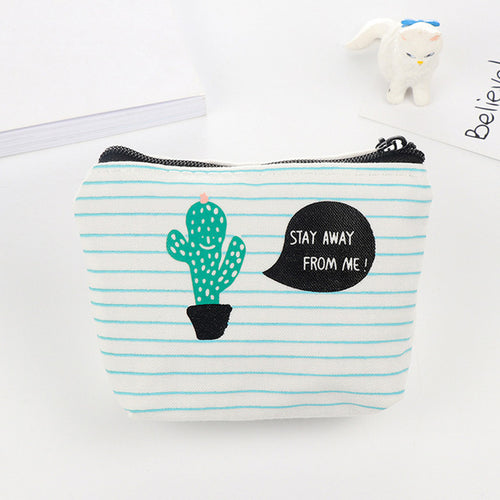 Stay Away From Me Cactus Pencil Bag