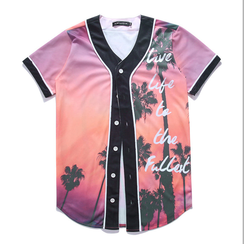 Palm Trees Summer Baseball Jersey