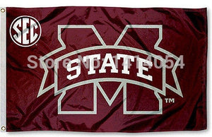 Mississippi State University SEC Flag